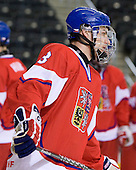 Adam Polasek (Czech Republic - 3) - Sweden defeated the Czech Republic 4-2 at the Urban Plains Center in Fargo, North Dakota, on Saturday, April 18, 2009, in their final match of the 2009 World Under 18 Championship.