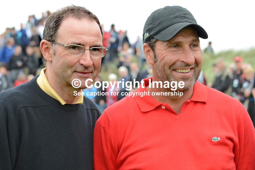 Martin O'Neill, N Ireland-born manager of UK Premier League side, Sunderland FC, was partnered with Jose Maria Olazabal,professional golfer, Spain, who will captain the European Ryder Cup team when they defend the trophy in the USA later this year, 2012. 201206270257..© Victor Patterson, 54 Dorchester Park, Belfast, N Ireland. Tel: +44 2890661296; Mobile: +44 7802 353836; Emails: victorpatterson@me.com & victorpatterson@gmail.com; www.victorpatterson.com