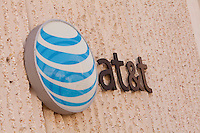 An AT&T logo is seen on a building in Jacksonville, Florida Friday April 26, 2013.