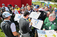 Rory McIlroy (Team Europe) signing autographs during Thursday's Practice Round ahead of The 2016 Ryder Cup, at Hazeltine National Golf Club, Minnesota, USA.  29/09/2016. Picture: David Lloyd | Golffile.