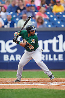 Lynchburg Hillcats left fielder Sicnarf Loopstok (13) at bat during a game against the Wilmington Blue Rocks on June 3, 2016 at Judy Johnson Field at Daniel S. Frawley Stadium in Wilmington, Delaware.  Lynchburg defeated Wilmington 16-11 in ten innings.  (Mike Janes/Four Seam Images)