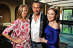 Amanda Brooks, Christos Garkinos and Becca Thrash at a cocktail party at Thrash's home featuring a trunk show from Garkinos' Los Angeles  boutique Decadestwo Wednesday April 21,2010.. (Dave Rossman Photo)