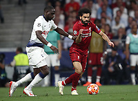 Liverpool's Mohamed Salah (r) in action with Tottenham's Moussa Sissoko (l) during the UEFA Champions League final football match between Tottenham Hotspur and Liverpool at Madrid's Wanda Metropolitano Stadium, Spain, June 1, 2019. Liverpool won 2-0.<br /> UPDATE IMAGES PRESS/Isabella Bonotto