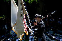 The MIT Police Honor Guard present flags before the start of the 2012 MIT Commencement on June 8, 2012, in Cambridge, Massachusetts, USA...Photo by M. Scott Brauer