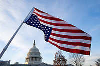 Demonstrators gather outside the United States Capitol in Washington D.C., U.S., on Thursday, January 9, 2020, to oppose a war with Iran, as the United States House of Representatives convenes to vote on a war powers resolution that would mandate United States President Donald J. Trump receive congressional authorization for any future military action taken toward Iran.<br /> <br /> Credit: Stefani Reynolds / CNP/AdMedia