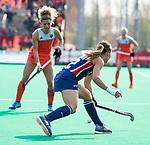ROTTERDAM - Amanda Magadan (USA)  tijdens de Pro League hockeywedstrijd dames, Nederland-USA .   COPYRIGHT  KOEN SUYK
