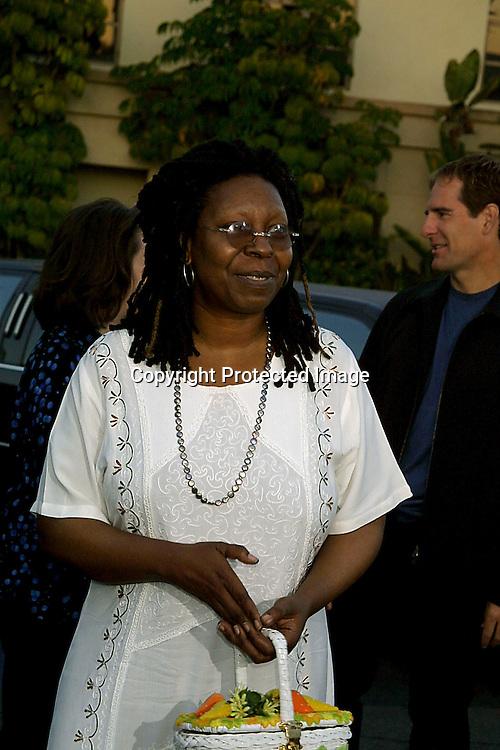 ©2002 KATHY HUTCHINS/ HUTCHINS PHOTO.PARAMOUNT 90TH ANNIVERSARY PARTY .PARAMOUNT LOT, LOS ANGELES, CA.7/14/02.WHOOPI GOLDBERG