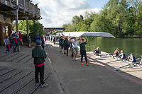 Maidenhead. Berkshire. United Kingdom. General view Competitors, boating, Maidenhead RC Boathouse. 2017 Maidenhead Junior Regatta  River Thames. <br /> <br /> [&copy;Peter SPURRIER/Intersport Images] Sunday. 14.05.2017