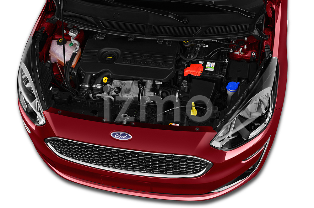 Car stock 2019 Ford Ka+ Ultimate 5 Door Hatchback engine high angle detail view