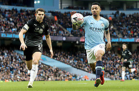 Manchester City's Gabriel Jesus under pressure from Burnley's James Tarkowski<br /> <br /> Photographer Rich Linley/CameraSport<br /> <br /> Emirates FA Cup Fourth Round - Manchester City v Burnley - Saturday 26th January 2019 - The Etihad - Manchester<br />  <br /> World Copyright © 2019 CameraSport. All rights reserved. 43 Linden Ave. Countesthorpe. Leicester. England. LE8 5PG - Tel: +44 (0) 116 277 4147 - admin@camerasport.com - www.camerasport.com
