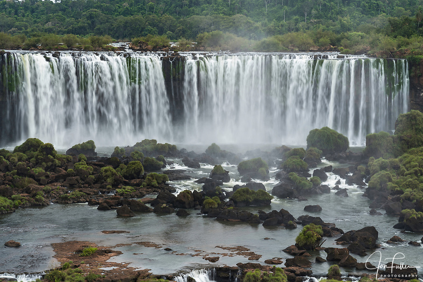 Rivadavia Falls in Iguazu Falls National Park in Argentina, as viewed from Brazil.  A UNESCO World Heritage Site.