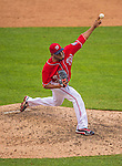28 July 2013: Washington Nationals pitcher Fernando Abad on the mound against the New York Mets at Nationals Park in Washington, DC. The Nationals defeated the Mets 14-1. Mandatory Credit: Ed Wolfstein Photo *** RAW (NEF) Image File Available ***