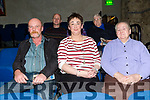 """Enjoying the performance of Students from Coláiste na Riochta, Listowel with their production  of  """"A Wake in the West"""" at St John's Theatre Listowel on Thursday were P J Kelly, Marie Kelly, Teresa Long"""