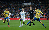 Real Madrid's Toni Kroos  and UD Las Palmas' Vicente Gomez and Vitolo (l) during La Liga match. November 5,2017. (ALTERPHOTOS/Inma Garcia)