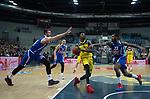18.12.2019, EWE Arena, Oldenburg, GER, EuroCup 7Days, EWE Baskets Oldenburg vs Buducnost VOLI Podgorica, im Bild<br /> Gerry BLAKES (EWE Baskets Oldenburg #4 ) Zoran NIKOLIC (Buducnost VOLI Podgorica #19 ) Sean KILPATRICK (Buducnost VOLI Podgorica #23 )<br /> Foto © nordphoto / Rojahn