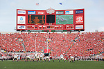 September 19, 2009: A general view of Camp Randall Stadium scoreboard during the Wisconsin Badgers NCAA football game against the Wofford Terriers on September 19, 2009 in Madison, Wisconsin. The Badgers won 44-14. (Photo by David Stluka)