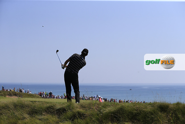 Jimmy WALKER (USA) plays his 2nd shot into the 6th green during Friday's Round 2 of the 97th US PGA Championship 2015 held at Whistling Straits, Mosel, Kohler, Wisconsin, United States of America. 14/08/2015.<br /> Picture Eoin Clarke, www.golffile.ie