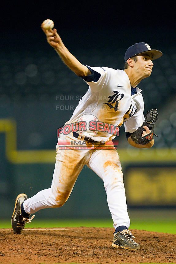 J.T. Chargois #14 of the Rice Owls in action against the Kentucky Wildcats at Minute Maid Park on March 4, 2011 in Houston, Texas.  Photo by Brian Westerholt / Four Seam Images