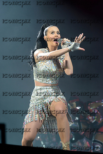 KATY PERRY - performing live on the Main Stage on Day Three of the 2014 BBC RADIO ONE BIG WEEKEND held on Glasgow Green in Glasgow Scotland UK - 25 May 2014.  Photo credit: George Chin/IconicPix