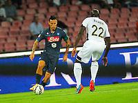 Marek Hamsik   durante l'incontro  di calco d Seriden A  tra SSC Napoli e US Palermo    allo stadio San Paolo di Napoli , 24 Settembre  2014