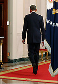 United States President Barack Obama departs after announcing executive actions on U.S. immigration policy during an address from the White House in Washington, November 20, 2014. Obama outlined a plan on Thursday to ease the threat of deportation for about 4.7 million undocumented immigrants. <br /> Credit: Jim Bourg / Pool via CNP