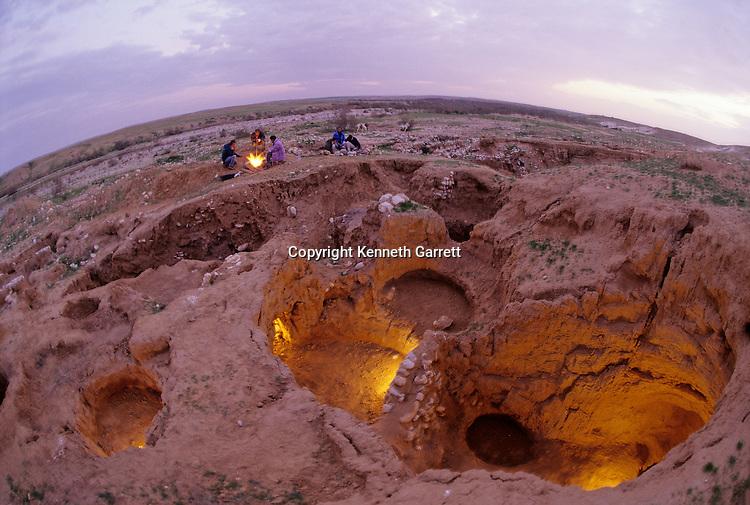 Shiqmim, c 4200 BC, Copper Age village with underground storage, Israel