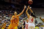 Catalunya vs Montenegro: 83-57.<br /> Cristina Hurtado vs Sofija Zivaljevic.