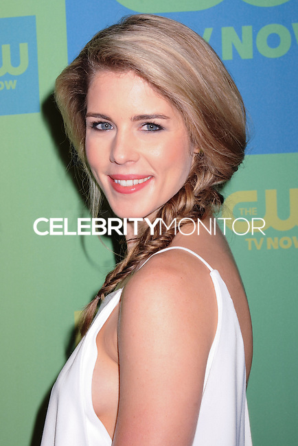 NEW YORK CITY, NY, USA - MAY 15: Emily Bett Rickards at The CW Network's 2014 Upfront held at The London Hotel on May 15, 2014 in New York City, New York, United States. (Photo by Celebrity Monitor)
