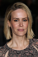 "WESTWOOD, CA, USA - FEBRUARY 24: Sarah Paulson at the World Premiere Of Universal Pictures And Studiocanal's ""Non-Stop"" held at Regency Village Theatre on February 24, 2014 in Westwood, Los Angeles, California, United States. (Photo by Xavier Collin/Celebrity Monitor)"