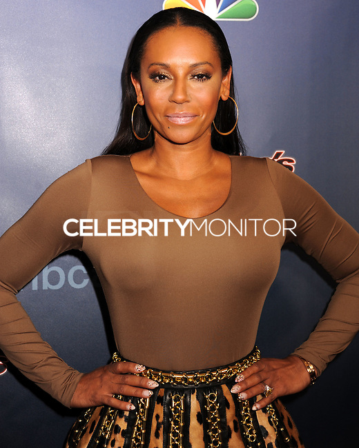 NEW YORK CITY, NY, USA - SEPTEMBER 10: Singer Mel B (Melanie Brown) arrives at the 'America's Got Talent' Season 9 Post Show Red Carpet held at the Radio City Music Hall on September 10, 2014 in New York City, New York, United States. (Photo by Celebrity Monitor)