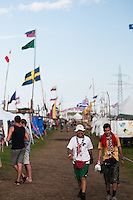 One of the many roads at the jamboree. Here in autumn. Photo: Audun Ingebrigtsen / Scouterna