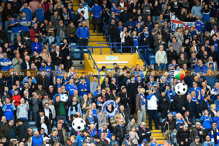 There was a party atmosphere at Fratton Park during Portsmouth vs Plymouth Argyle, Sky Bet EFL League 2 Football at Fratton Park on 14th April 2017