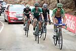 Part of the 19 man breakaway group Matteo Trentin (ITA) Quick-Step Floors, Jaime Roson Garcia (ESP) Caja Rural-Seguros RGA and Jos&eacute; Joaquin Rojas (ESP) Movistar Team climb the Cat1 Collado Bermejo during Stage 10 of the 2017 La Vuelta, running 164.8km from Caravaca A&ntilde;o Jubilar 2017 to ElPozo Alimentaci&oacute;n, Spain. 29th August 2017.<br /> Picture: Unipublic/&copy;photogomezsport | Cyclefile<br /> <br /> <br /> All photos usage must carry mandatory copyright credit (&copy; Cyclefile | Unipublic/&copy;photogomezsport)