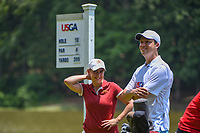 Ceilia Barquin Arozamena (a)(ESP) is all smiles on the tee on 10 before round 2 of the U.S. Women's Open Championship, Shoal Creek Country Club, at Birmingham, Alabama, USA. 6/1/2018.<br /> Picture: Golffile | Ken Murray<br /> <br /> All photo usage must carry mandatory copyright credit (&copy; Golffile | Ken Murray)