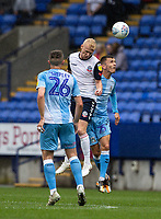 Bolton Wanderers' James Weir (centre) competing with Coventry City's Zain Westbrooke (right) <br /> <br /> Photographer Andrew Kearns/CameraSport<br /> <br /> The EFL Sky Bet Championship - Bolton Wanderers v Coventry City - Saturday 10th August 2019 - University of Bolton Stadium - Bolton<br /> <br /> World Copyright © 2019 CameraSport. All rights reserved. 43 Linden Ave. Countesthorpe. Leicester. England. LE8 5PG - Tel: +44 (0) 116 277 4147 - admin@camerasport.com - www.camerasport.com
