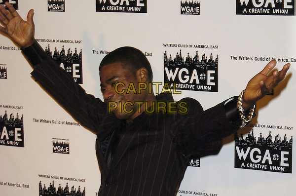 TRACY MORGAN.59th Annual Writers Guild Awards at the Hudson Theater, New York, New York ,USA..February 11th, 2007.half length black top arms in air.CAP/ADM/BL.©Bill Lyons/AdMedia/Capital Pictures *** Local Caption ***