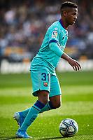 25th January 2020; Mestalla, Valencia, Spain; La Liga Football,Valencia versus Barcelona; Ansu Fati of FCB brings the ball forward