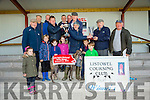 Carey's Ranger winner of the Dick Galvin Memorial Duffer cup at  the Listowel Coursing on Sunday Owner Paddy Purtill