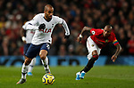 Tottenham Hotspur's Lucas Moura (L) during the Premier League match at Old Trafford, Manchester. Picture date: 4th December 2019. Picture credit should read: Darren Staples/Sportimage