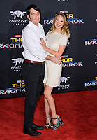 David Dastmalchian &amp; Evelyn Leigh at the premiere for &quot;Thor: Ragnarok&quot; at the El Capitan Theatre, Los Angeles, USA 10 October  2017<br /> Picture: Paul Smith/Featureflash/SilverHub 0208 004 5359 sales@silverhubmedia.com