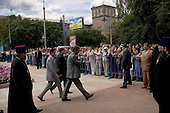 Domnesk, Ukraine.July 14, 2005 ..Ukrainian President Victor Yuschenko makes an official visit to Domnesk..
