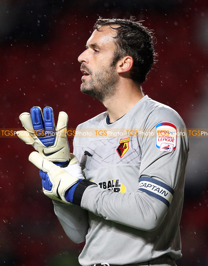 Manuel Almunia of Watford - Charlton Athletic vs Watford, npower Championship at The Valley, Charlton - 02/10/12 - MANDATORY CREDIT: Rob Newell/TGSPHOTO - Self billing applies where appropriate - 0845 094 6026 - contact@tgsphoto.co.uk - NO UNPAID USE.
