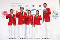 (L-R)  Yuji Takada,  Yasuhiro Yamashita,  Seiko Hashimoto, Saori Yoshida, Keisuke Ushiro, July 3, 2016 - <br /> Olympic : Japan National team held a press conference for Rio de Janeiro <br /> Olympic Games at Yoyogi Gymnasium, Tokyo, Japan. <br /> (Photo by Yusuke Nakanishi/AFLO SPORT)