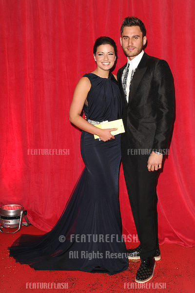 Sofie Austin, Charlie Clapham arriving for the 2014 British Soap Awards, at the Hackney Empire, London. 24/05/2014 Picture by: Steve Vas / Featureflash