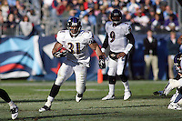 Ravens running back Jamal Lewis picks up five yards on a play in the third quarter against the Titans at LP Field in Nashville, Tennessee on November 12, 2006. Baltimore won 27-26.