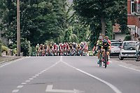 right after the official stage start, Quinten Hermans (BEL/Telenet Fidea Lions) tries to break away from the pack<br /> <br /> Ster ZLM Tour (2.1)<br /> Stage 4: Hotel Verviers &gt; La Gileppe (Jalhay)(190km)