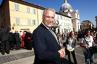 Joachim Herrmann at the honorary evening for Pope Benedict XVI. for his 85th Birthday in the courtyard of the papal summer residence at Castel Gandolfo in Italy, with costumes clubs from all over Bavaria. Castel Gandolfo, Italy, 03.08.2012...Credit: Nickels/face to face / Mediapunchinc  - ***online only for weekly magazines**** /NortePhoto.com<br />