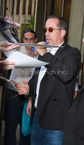NEW YORK, NY - SEPTEMBER 25: Jerry Seinfeld seen after an appearance on The Howard Stern Show in New York City on September 25, 2017 .Credit: RW/MediaPunch