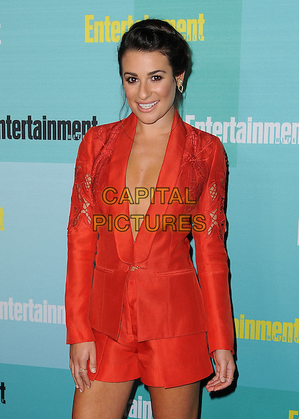 SAN DIEGO, CA - JULY 11:  Lea Michele at the 2015 Entertainment Comic-Con Celebration at Float at Hard Rock Hotel on July 11, 2015 in San Diego, California.