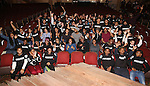 Cast members of 'The Color Purple' host a meet and greet with kids from PAL at The Jacobs Theatre on December 7, 2016 in New York City.
